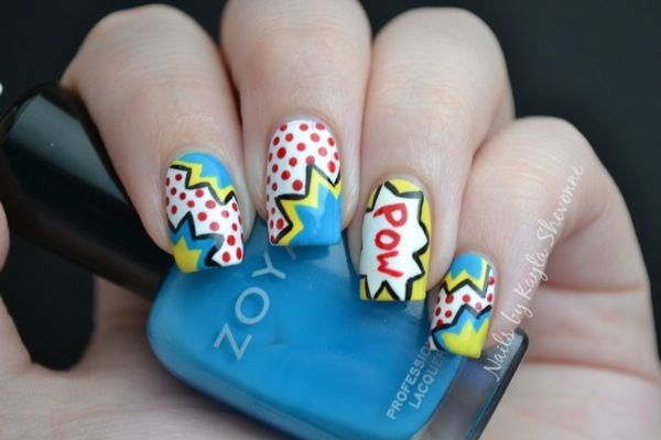 Comic book nails tutorial: #Nails by Kayla Shevonne: Tutorial Tuesday - Pop Art Nails