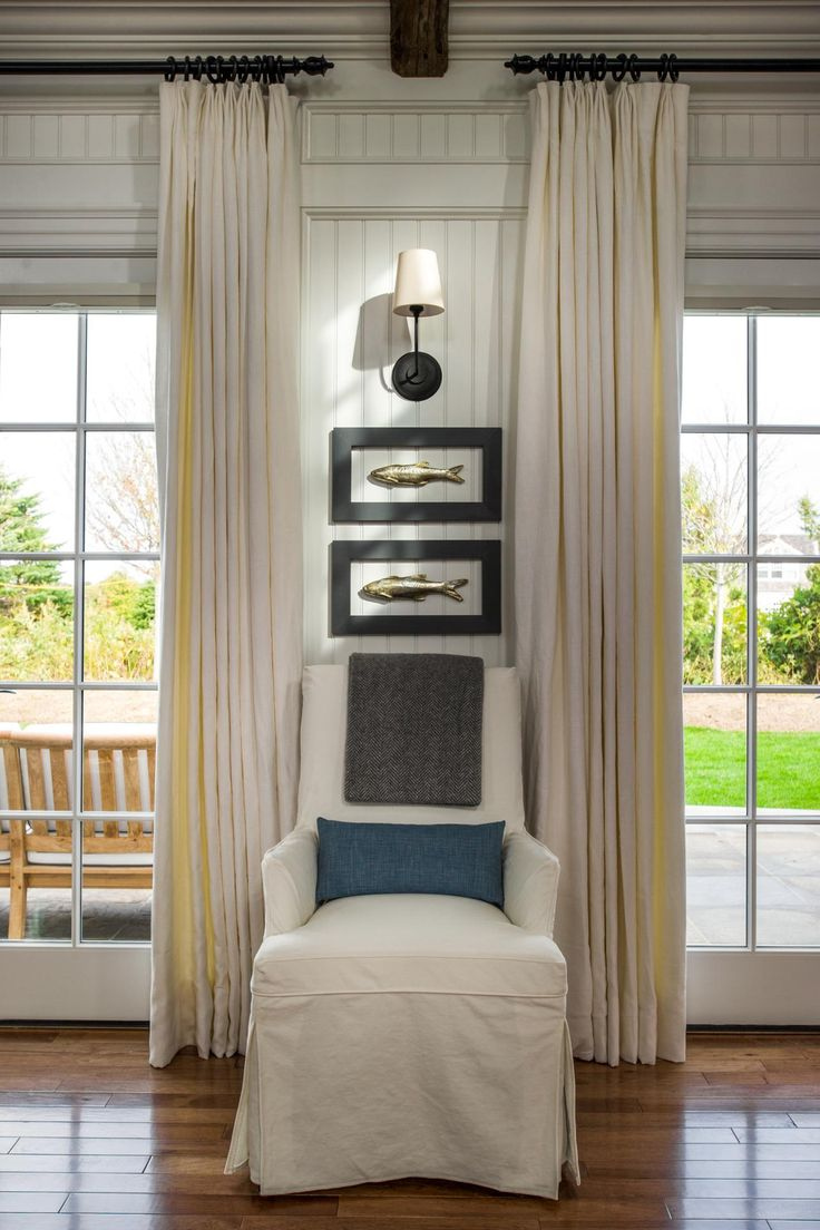 HGTV Dream Home 2015: Great Room | HGTV Dream Home | HGTV Love the long drapes