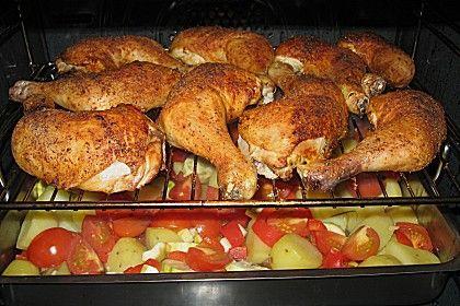 Hähnchenschenkel mit Ofen - Schmand - Gemüse 1