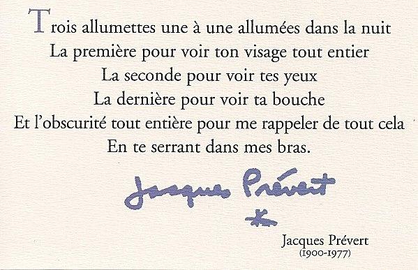 Trois allumettes / Jacques Prévert