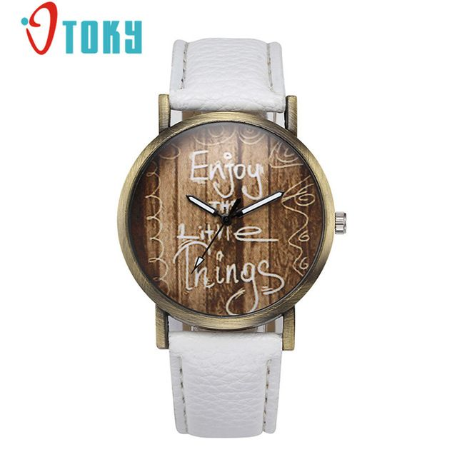 OTOKY Enjoy The Little Things PU Leather Watch For Women Drop Shipping 0424 - Online Shopping for Watches