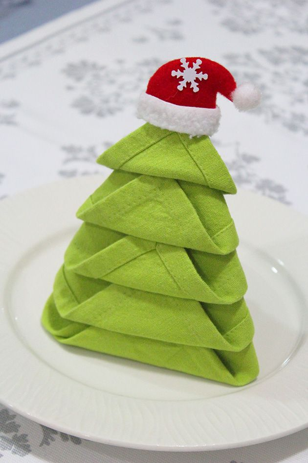 Best 25+ Christmas tree napkins ideas on Pinterest | Diy christmas ...