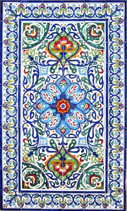 DECORATIVE PERSIAN TILES Persian design mosaic by tunisiandecor, $660.00