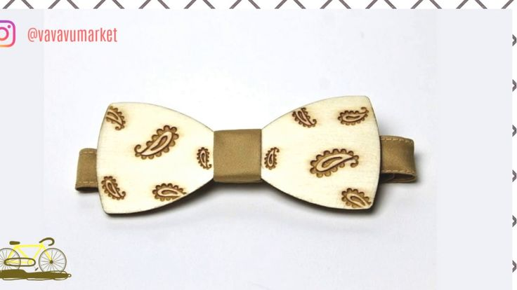 ❤ Elegantní dřevěný pánský motýlek ❤