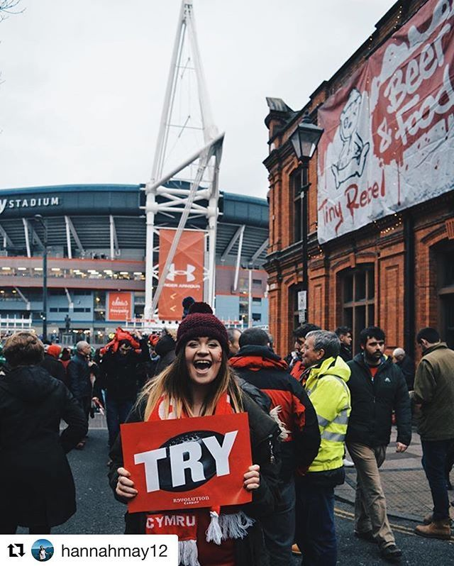 Hi all, @chris3d here posting the winner of the weekends photo challenge. We had some great shots posted of the weekends events, though of course the result of the game wasn't what we had hoped for. This particular shot captures the excitement and enthusiasm of the Welsh fans, so is this weekends winner. Congratulations to Hannah and thanks to everyone who took part👍🏽👍🏽. #Repost @hannahmay12 with @repostapp ・・・ Yesterday's result was less than ideal.  However, the atmosphere of cardiff…