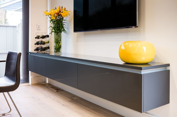 Combine a great design with a huge range of finishes and you too can create a clever storage solution to suit your decor. Here the designer has opted for Albedor's Ultrafinish in Gloss Gunmetal.  For more information contact us on (03) 9761 6330 or visit our website www.albedor.com.au.