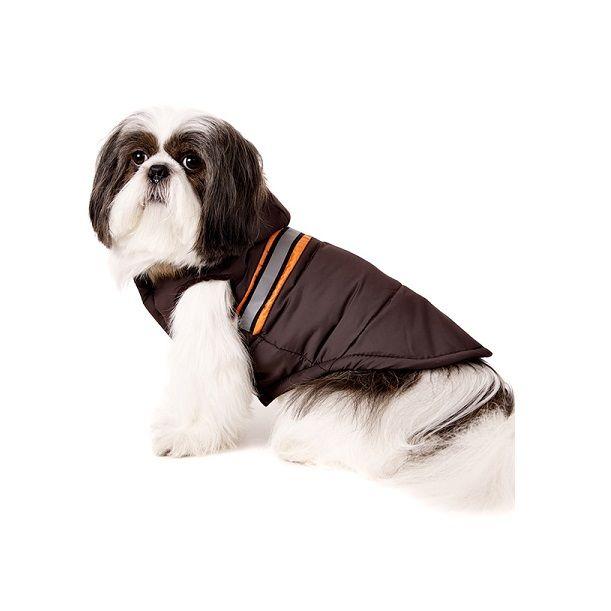 Dog Bodywarmer with Hood in Brown £22.95 #dogbodywarmer #dogcoat #brown #hood