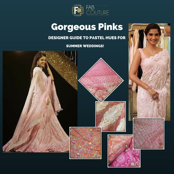 Go for pastel hues this summer wedding! ‪#‎designerguide‬ ‪#‎fabcouture‬ ‪#‎designerfabrics‬ ‪#‎pastelcolours‬ #pink #bollywoodstyle #bollywood #summerwedding http://wp.me/p6qlgO-4J