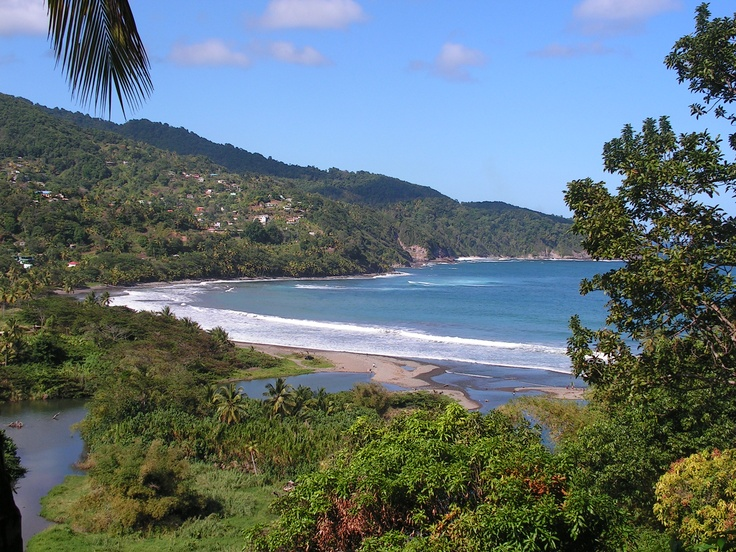 The bay at Castle Bruce on Dominica's east coast.