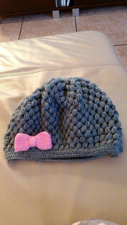 gorrito a crochet (punto piña)