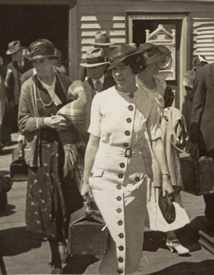 1930s button front dress