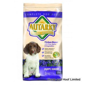 Autarky Puppy Junior Dog Food 10kg Autarky Puppy Junior Dog Food is a complete meal designed to suit the nutritional needs of young working dogs.
