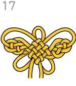 Butterfly knot with panchang knot as center. The direction is in Japanese but the diagram is very clear and self-explanatory.