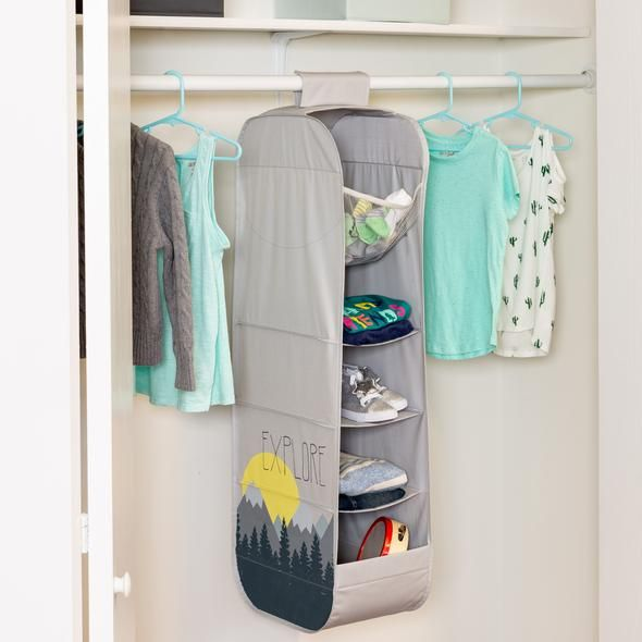 Explore Store Kids Hanging Closet Organizer In 2020 Toy Organization Hanging Closet Organizer Organization