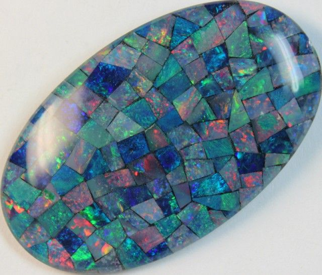 65 cts AAA + MOSAIC TOP CRYSTAL OPAL USE TO MAKE THESE MOSAICS C8434