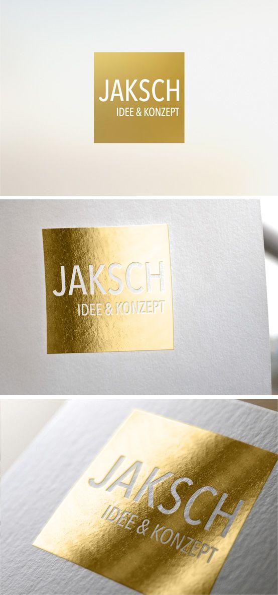 Für JAKSCH Idee & Konzept entwickelte Smoco das Logo´von Grund auf neu. | #design #logo #gold #clean #Germany | made with love in Stuttgart by www.smoco.de