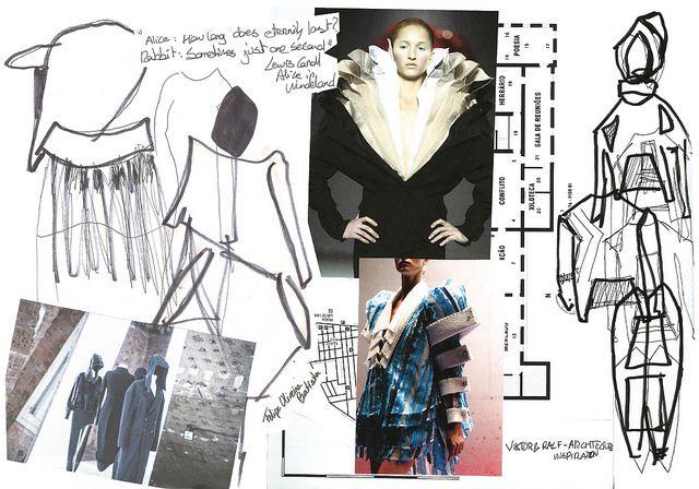 Fashion Sketchbook - fashion design sketches, research & development; fashion designer's journal; fashion portfolio