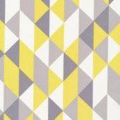 Laminate cotton - On Point yellow