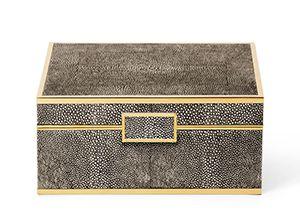 Aerin Lauder, Shagreen Jewellery Box - Chocolate, Buy Online at LuxDeco