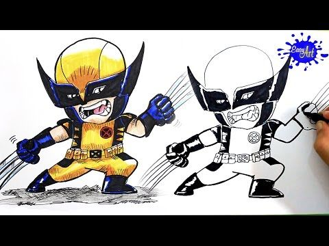 How to Draw wolverine (X-Men) / Como Dibujar awolverine  paso a paso / Easy art YouTube
