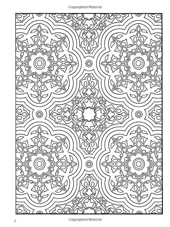 Paisley Designs Coloring Book | : Decorative Tile Designs Coloring ...