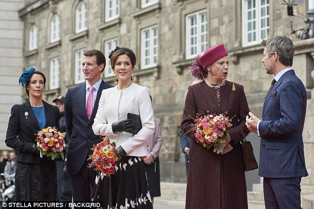 Princess Mary wowed onlookers with her chic and put together black and white outfit as the Danish Royal Family attended the 500th Reformation Anniversary Ceremony.