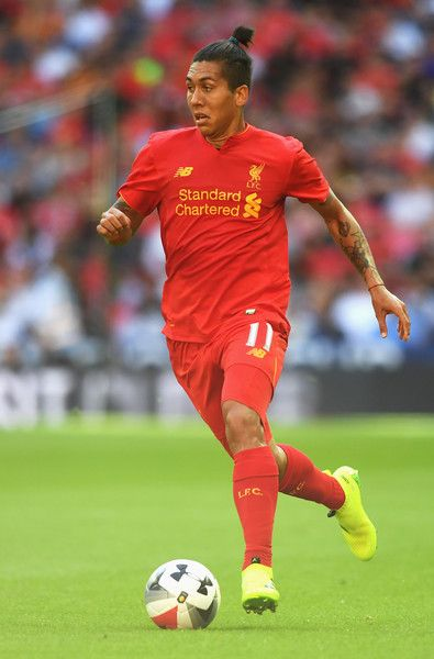 Roberto Firmino of Liverpool in action during the International Champions Cup match between Liverpool and Barcelona at Wembley…