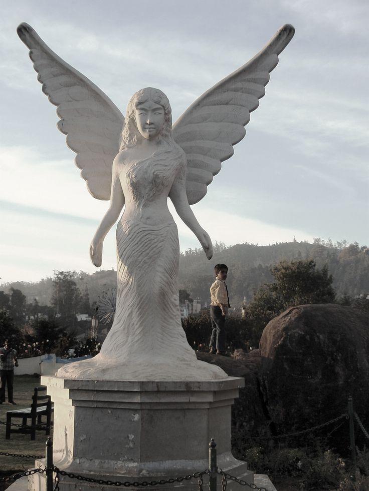 Angel garden statue garden statues pinterest ooty garden statues and angel statues - Angel statue for garden ...