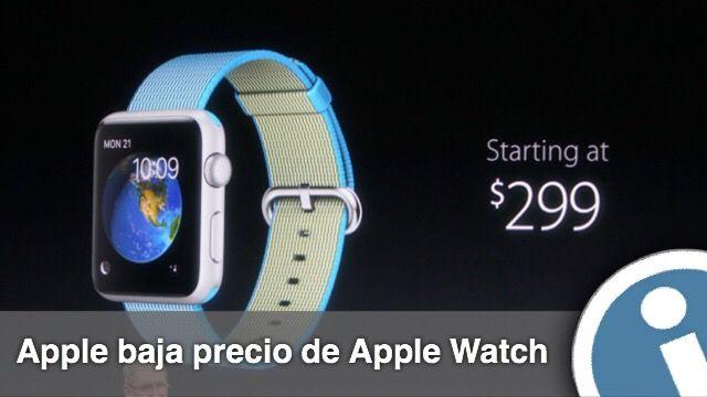 En la presentación en el lunes, Apple anunció una reducción en el costo de #reloj #Apple #Watch. A partir de hoy se puede #comprar el dispositivo por $ 299.