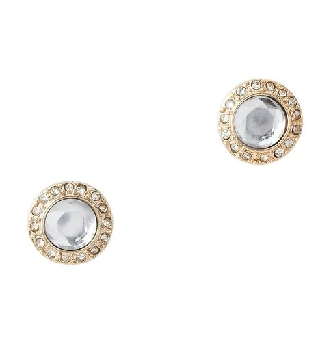 crystal and pave stud earrings