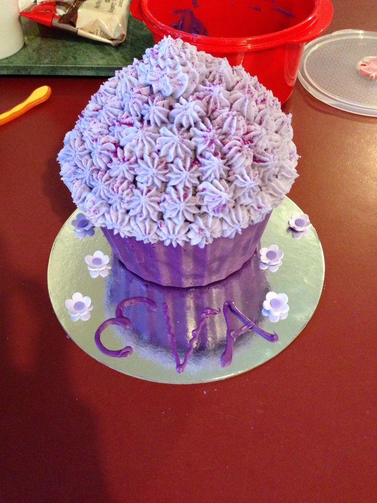Purple Cake smash cake for my baby's 1st birthday.