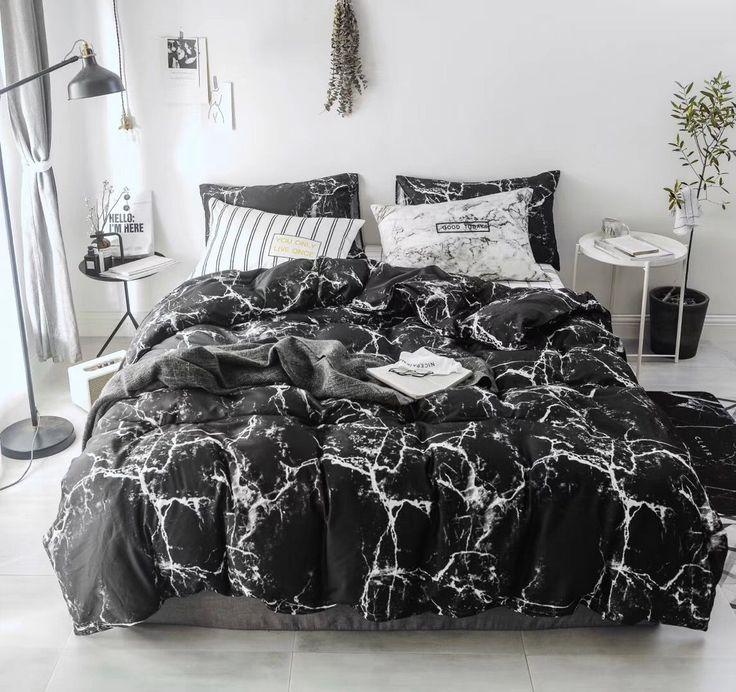 Smoofy 100 Cotton Duvet Cover Black Marble Sytle Marble Duvet Cover Bedding Sets Bedroom Decor