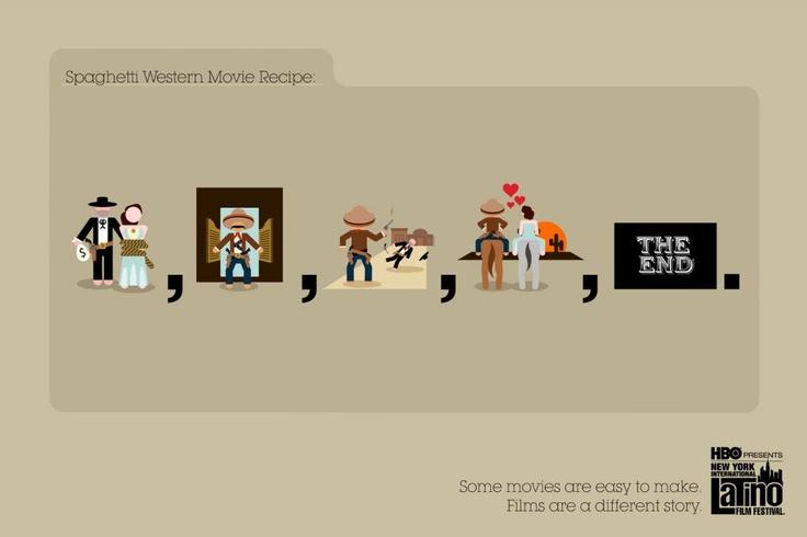 """Spaghetti Western Movie Recipe"" Print Ad for New York International Latino Film Festival by Wing"