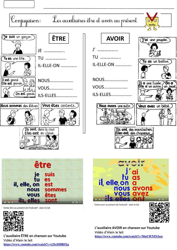 Être et avoir au présent: Leçon augmentée de conjugaison en chanson | BLOG GS CP CE1 CE2 de Monsieur Mathieu JEUX et RESSOURCES