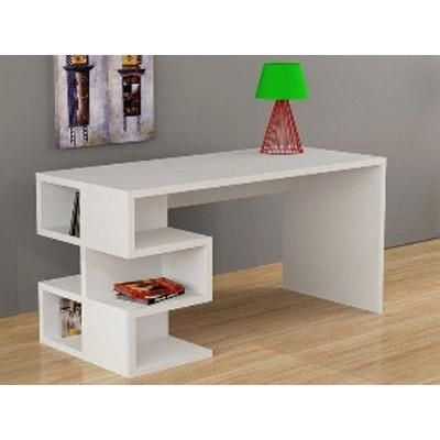 Aron Desk In White Or Dark Brown Colours 2 Years Warranty Unique Shelving On