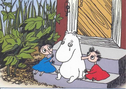 Sad. moomin by Tove Jansson
