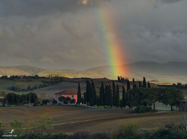 #192. Rainbow. Tuscany. Italy. - http://www.oskinpavel.com/