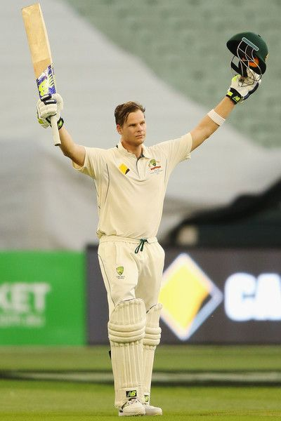 Steve Smith Photos Photos - Steve Smith of Australia celebrates making a century during day four of the Second Test match between Australia and Pakistan at Melbourne Cricket Ground on December 29, 2016 in Melbourne, Australia. - Australia v Pakistan - 2nd Test: Day 4