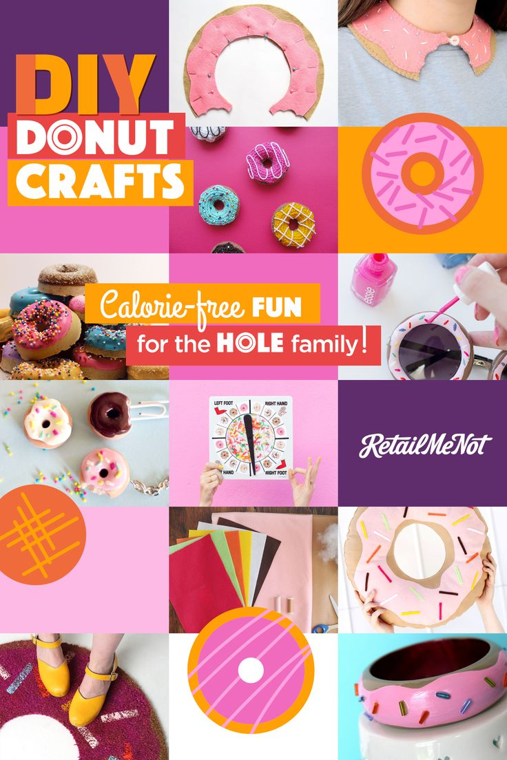 Whether you're celebrating National Donut Day or you just really, really, really like donuts, you have to admit that these 10 DIY donut crafts take the cake. Warning: These all look edible but aren't .