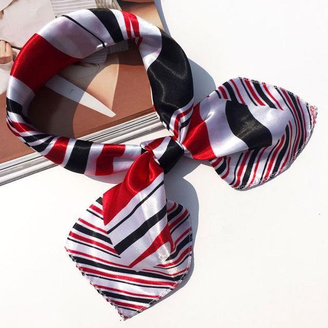 19 Colors High Soft Silk Square Scarf Scarves Bandanas Head Wrap Shawl Satin Stewardess