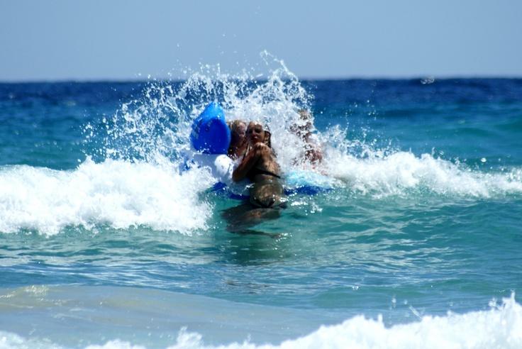 Met kids bij Paradise beach.