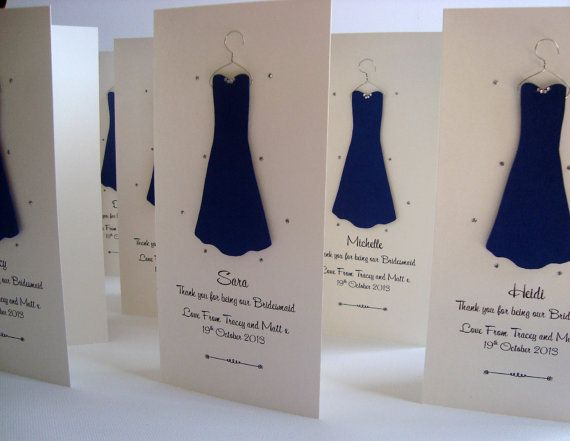Personalised Thank You For Being My Bridesmaid by ohsopurrfect, £3.00