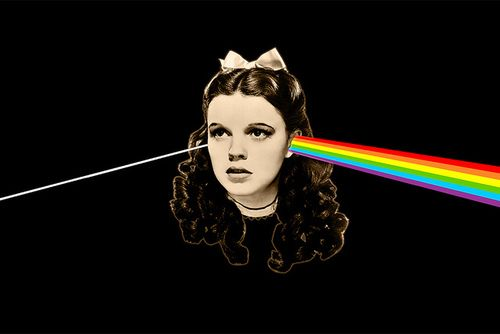 Wizard of Oz/Dark Side of the Moon mash-up. At the third roar, Pink Floyd will provide the soundtrack for this classic movie.