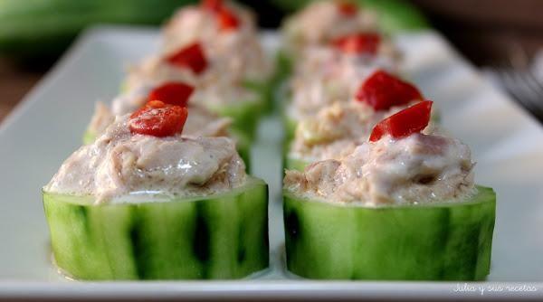 Pepinos rellenos de atún | Cocinar en casa es facilisimo.com