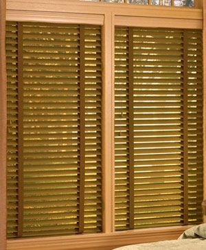 """2"""" Nulite Prestige Fauxwood, for the bathroom window. Good for high humidity it says"""