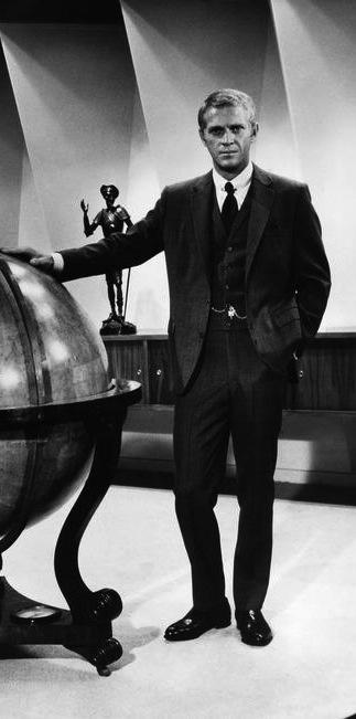 He's got the world in his hands .... Steve McQueen