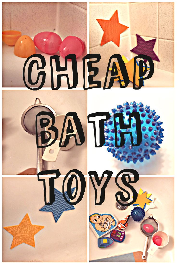 Don't waste money on bath toys for baby!  Cheap Bath Toys, DIY bath toys | eat drink and save money blog