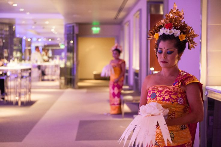 Balinese dancers....Infuse your own heritage and some culture to your glam wedding!