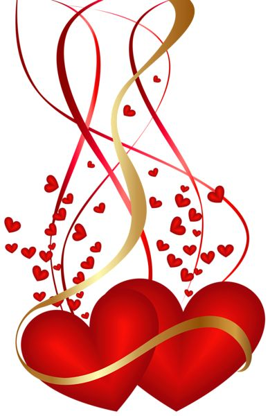 Valentine's Day Hearts Decoration PNG Clip Art Image