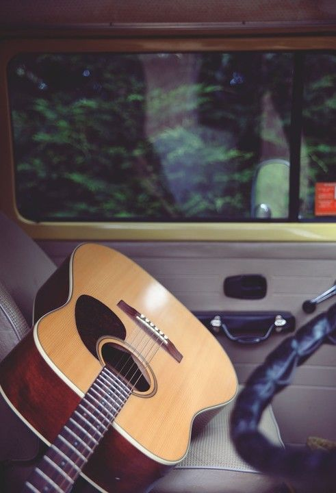 An instrument can travel with you wherever you go. #Acousticguitar #Travel #Music. My place in the North Carolina woods.